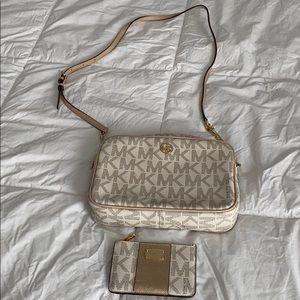MK crossbody bag w/wallet